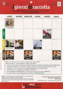 Calendario raccolta differenziata Porta a Porta